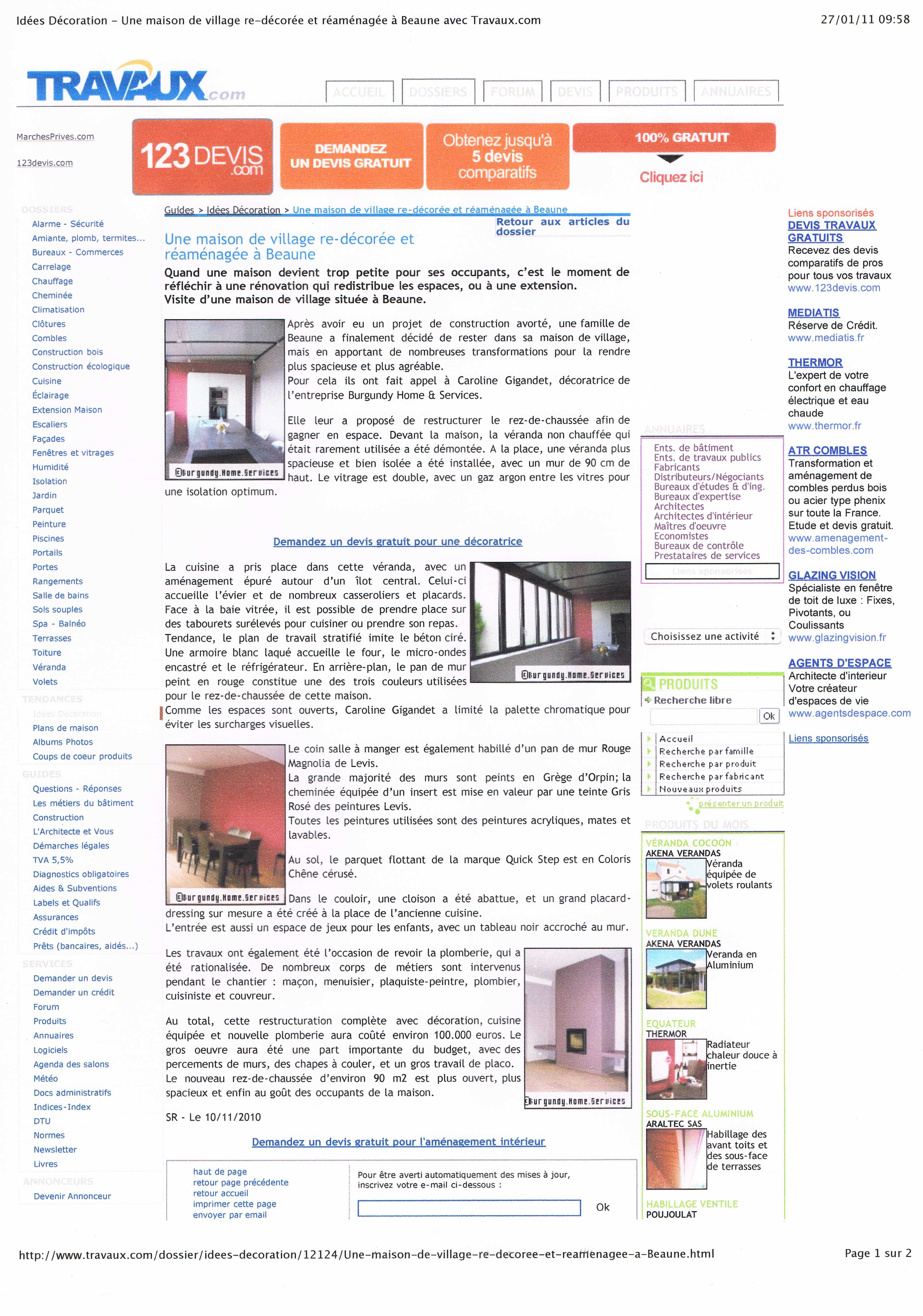 COM. Read Press Article In French