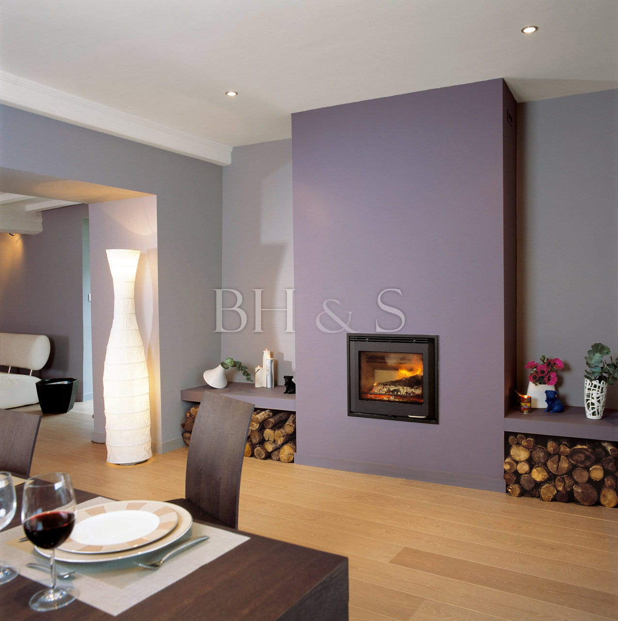 LAYOUT AND DECORATION - LIVING ROOM - CREATION OF FIREPLACE - PARQUET FLOOR - ROOM DESIGN