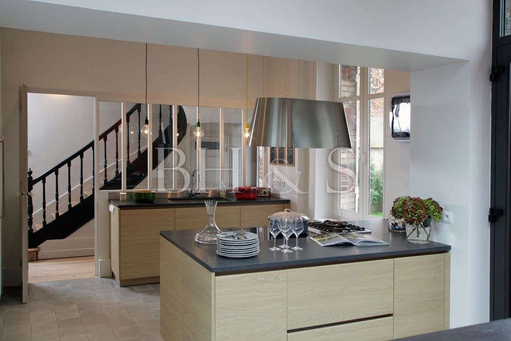 Interior architecture - New created kitchen - Beaune Property